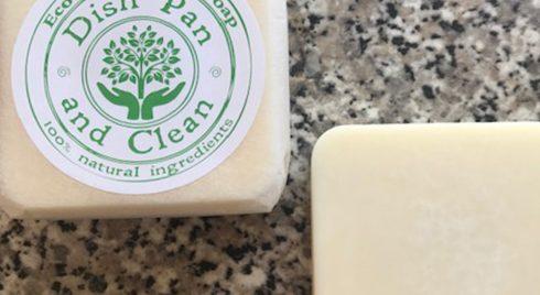 Dish Pan and Clean Dish Washing Soap